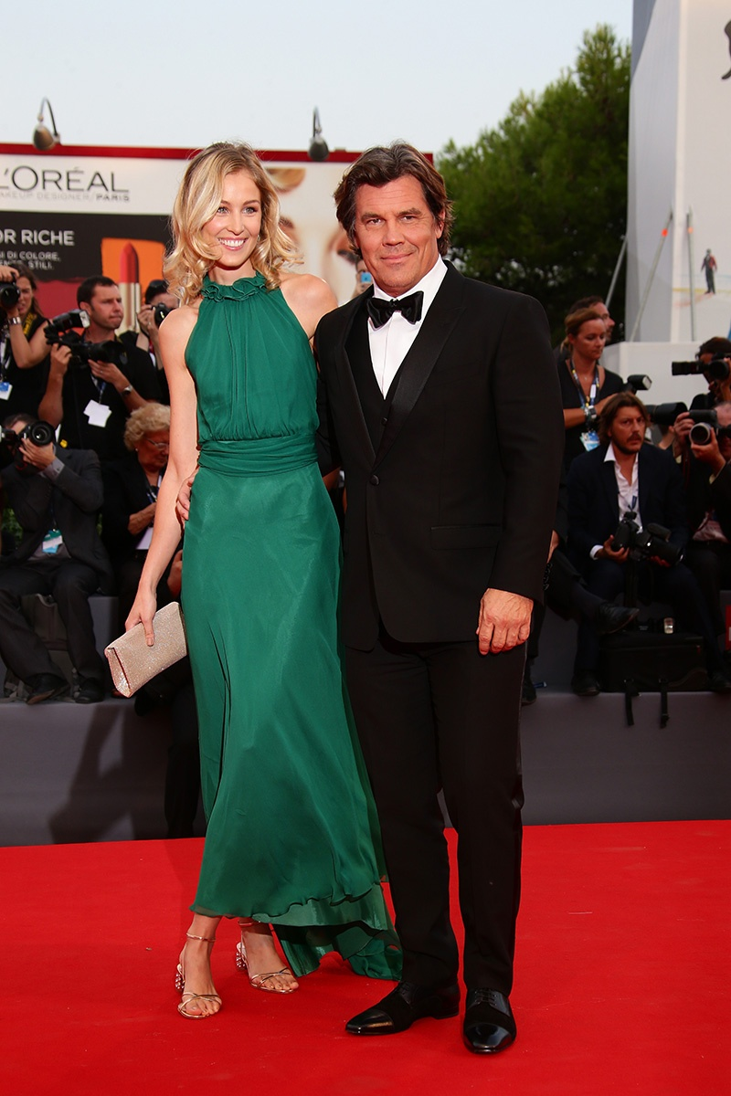 Kathryn Boyd and Josh Brolin Venice Film Festival 2017 Hairstyles