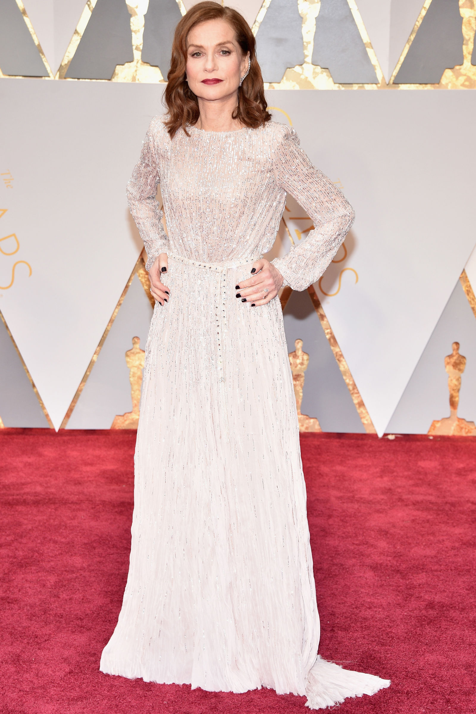ISABELLE HUPPERT Hairstyles 2017 Oscars