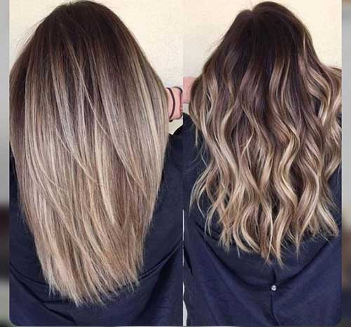Long hairstyles with balayage