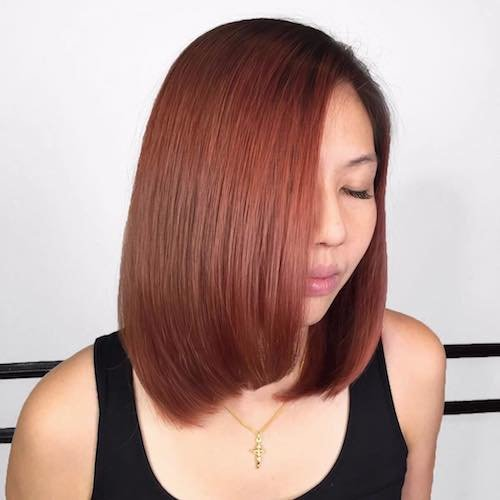 Copper hair color for Asian hair