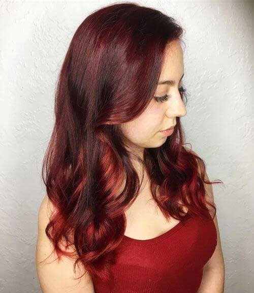 Dark red hair color-14