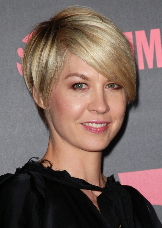 Nice Short Hair with Side Swept Bangs