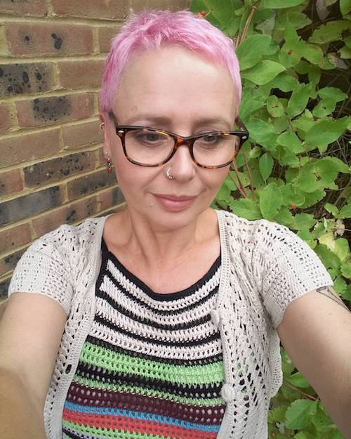 over 50 pink hair color for short hair