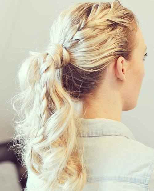 super-simple messy ponytail hairstyles
