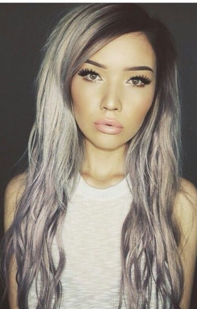 Silver-gray hairstyle