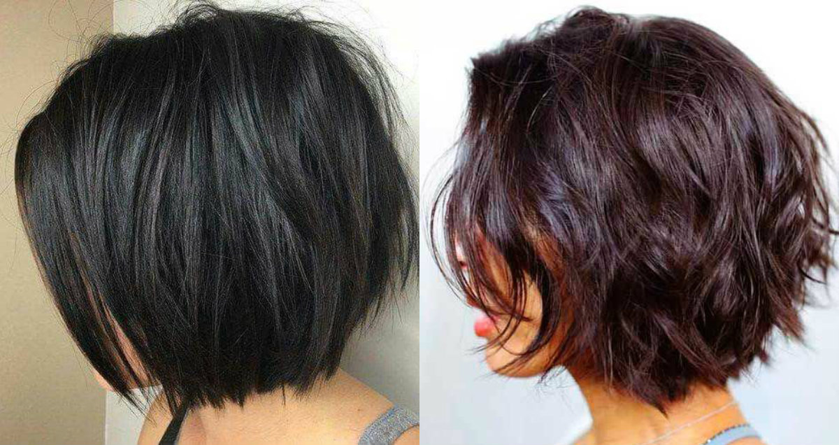 dark short bob hairstyles with layers 2018