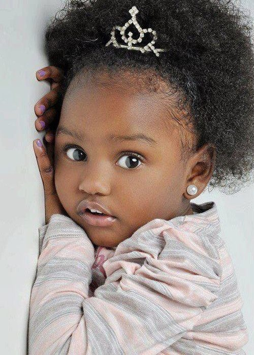 black girl afro hairstyles and a tiara