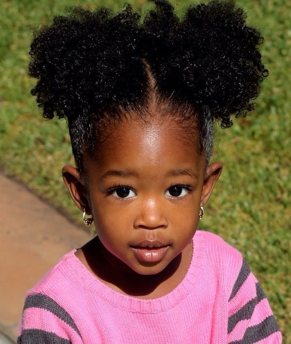 black children afro-knot hairstyles