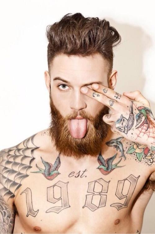 combed hairstyles for men with beards 2018