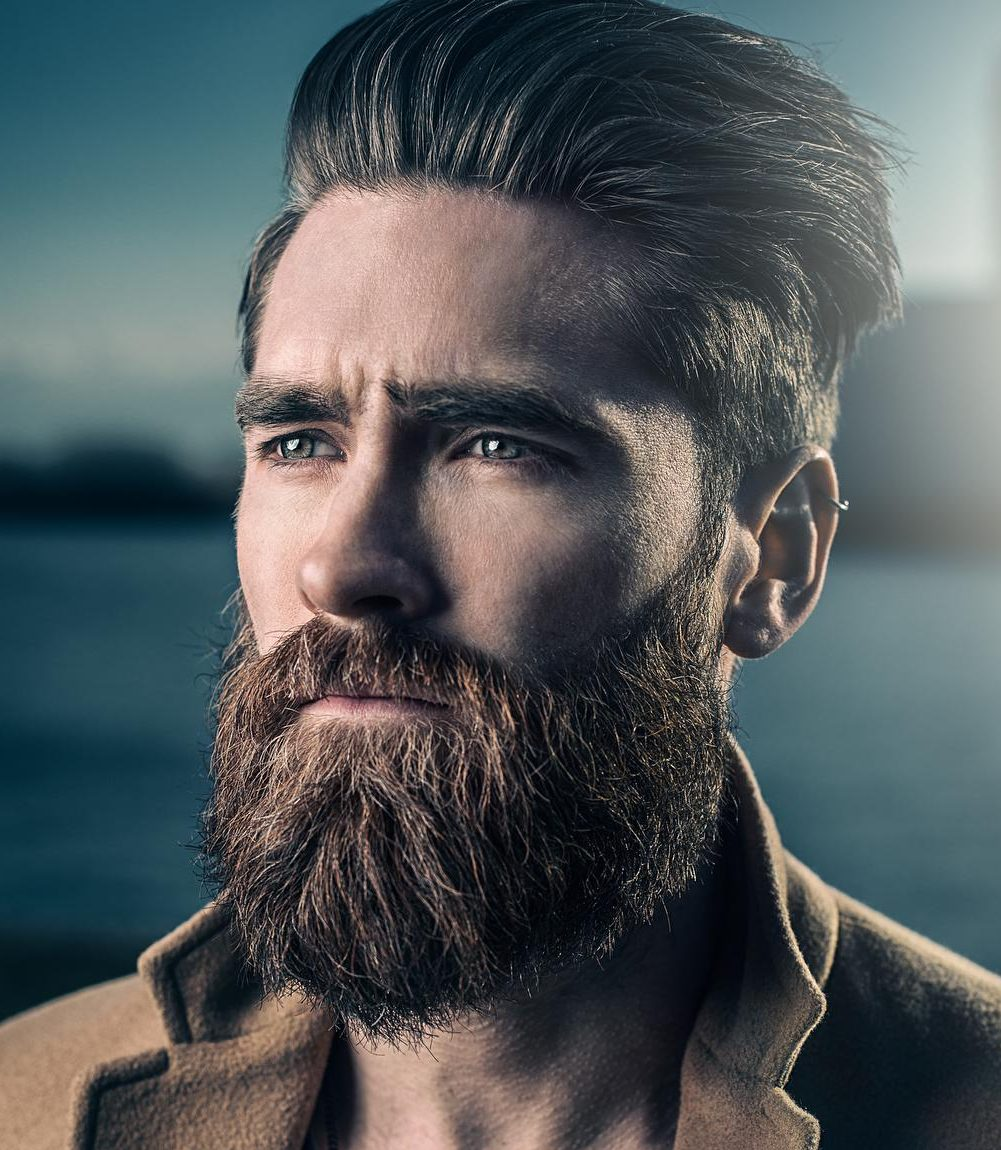 Nice looks for men with short hair and beard
