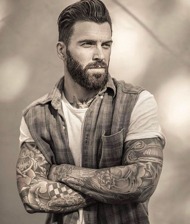 sexy men hairstyles with beards 2018