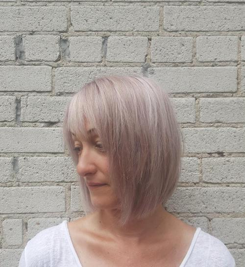 purple hair color for women over 50