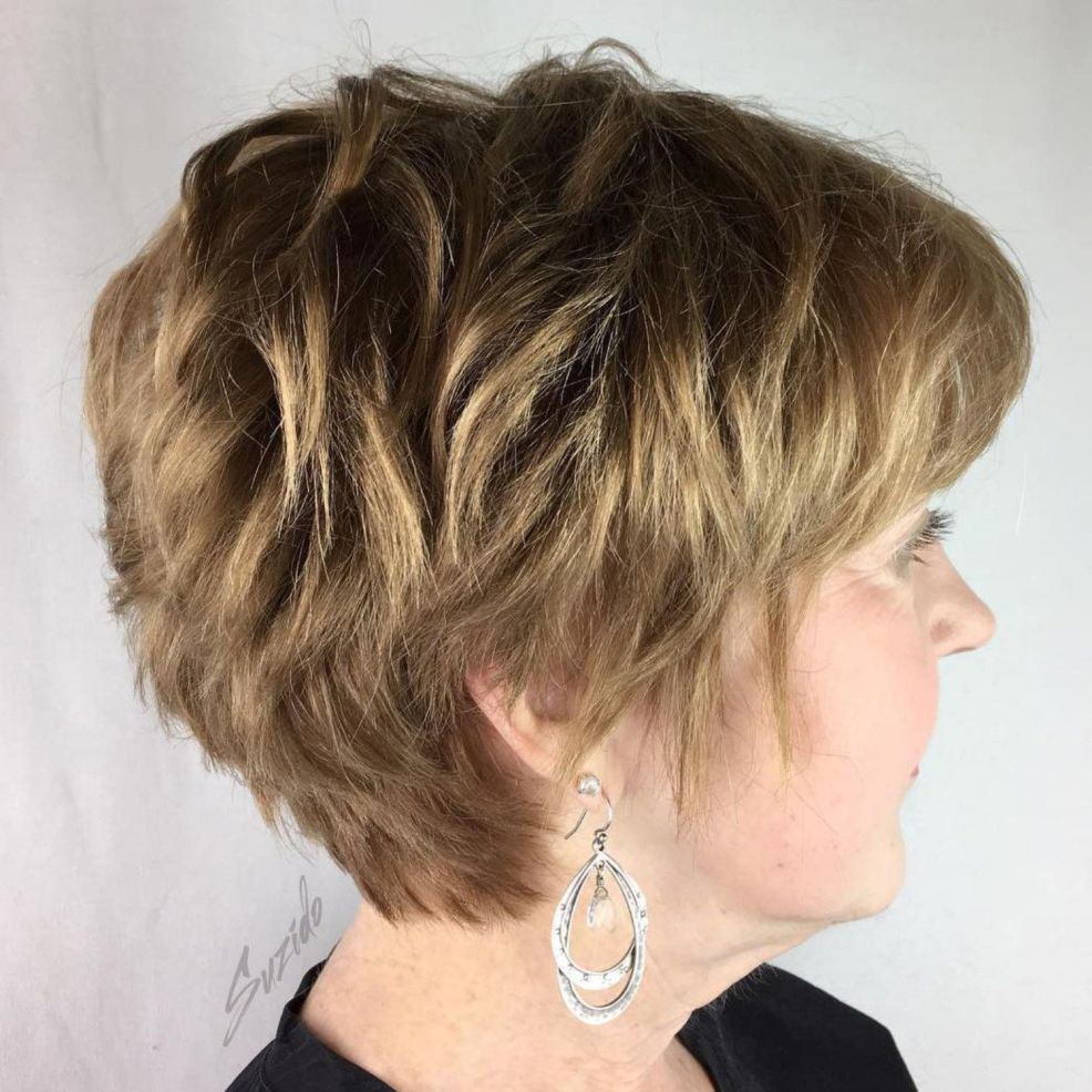 Rear view of short hairstyles