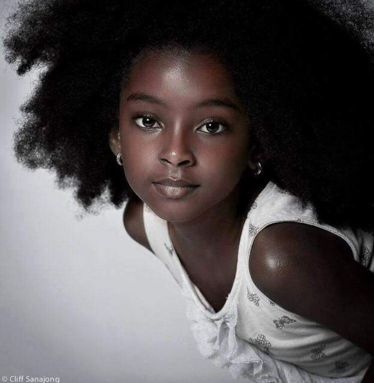 black children's model curly hairstyles