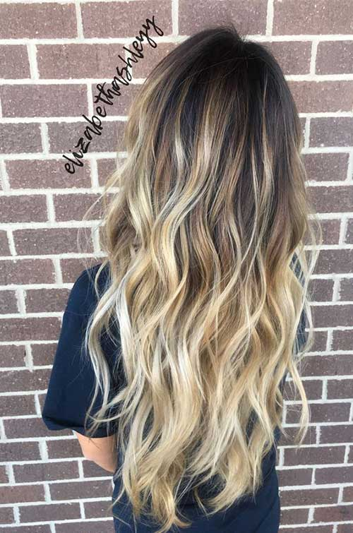 Long hairstyles with Balayage-11