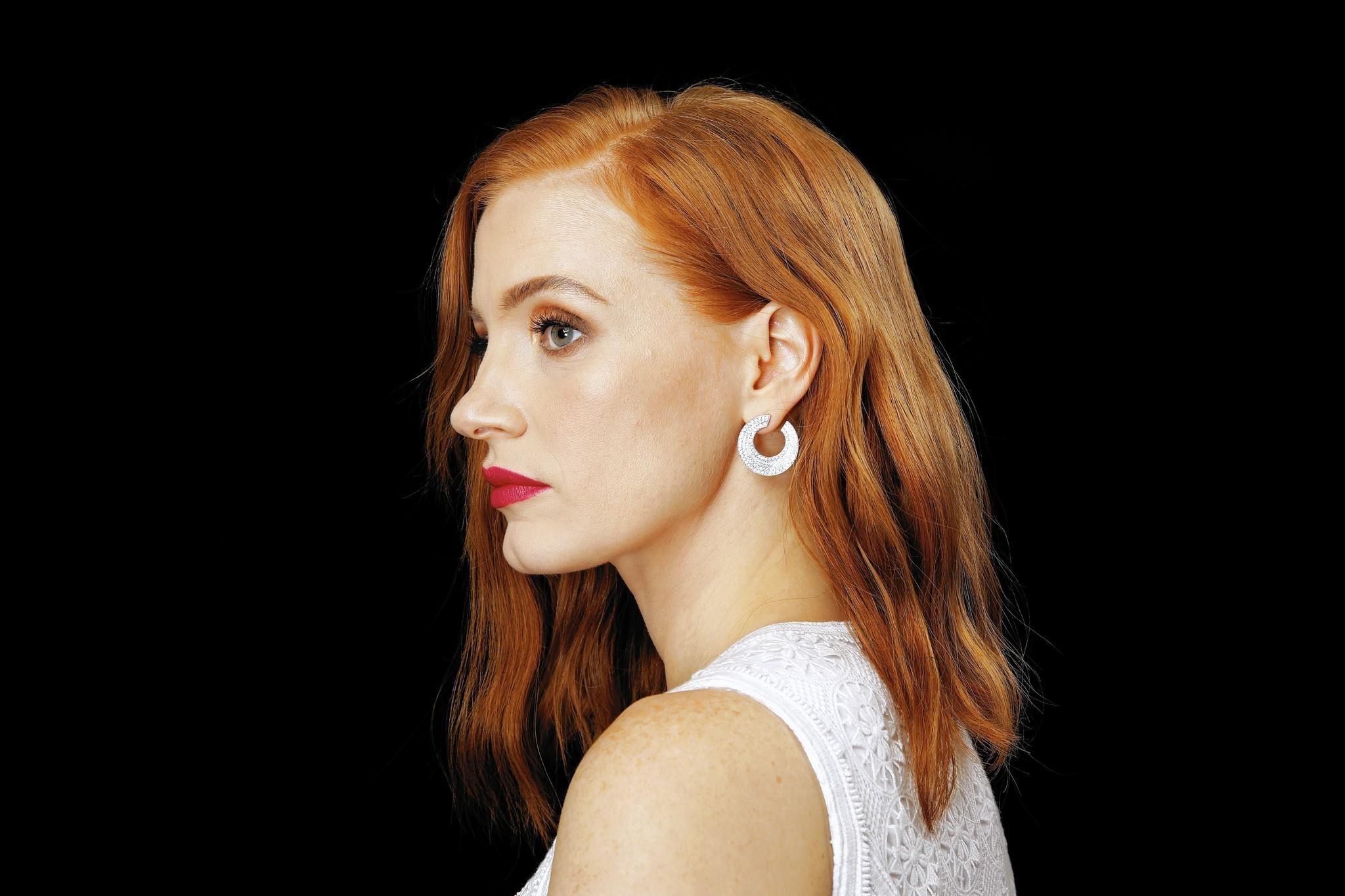 Jessica Chastain winter copper hair colors