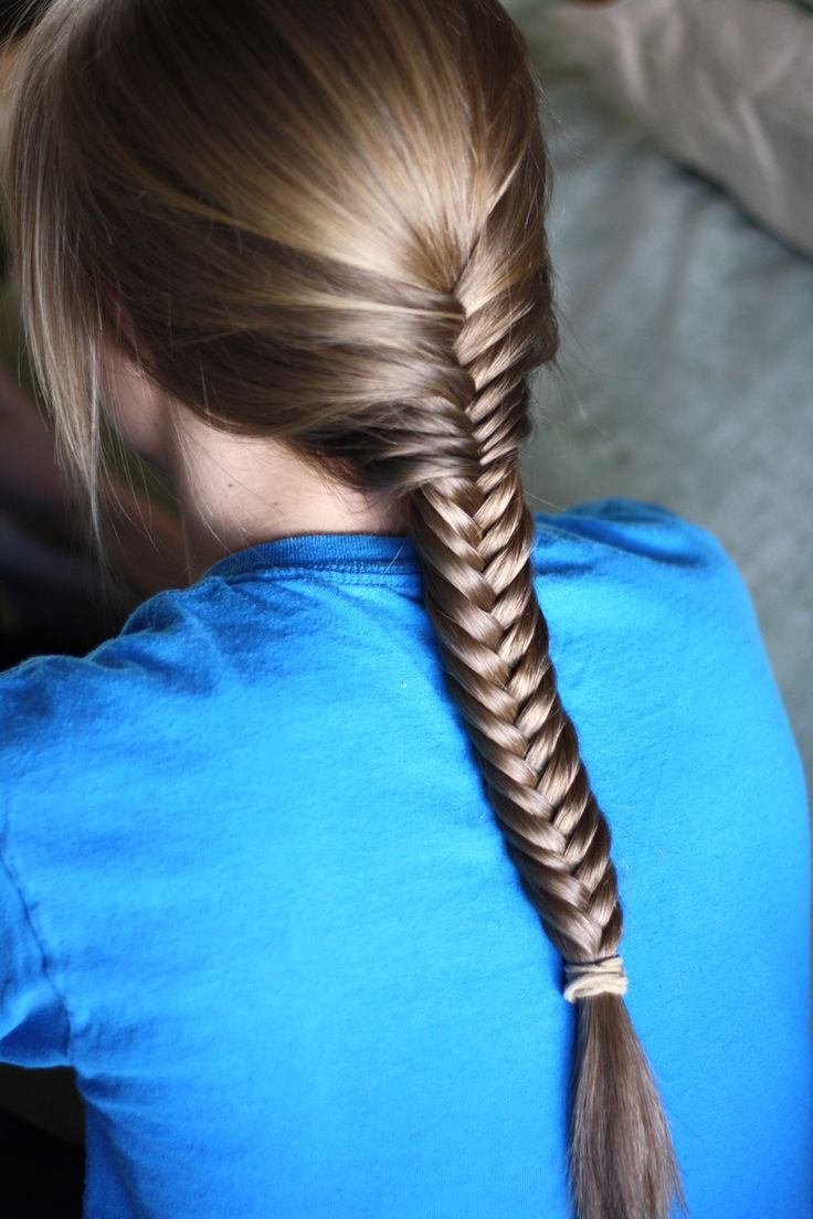 smooth fishtail hairstyle model 2047 summer