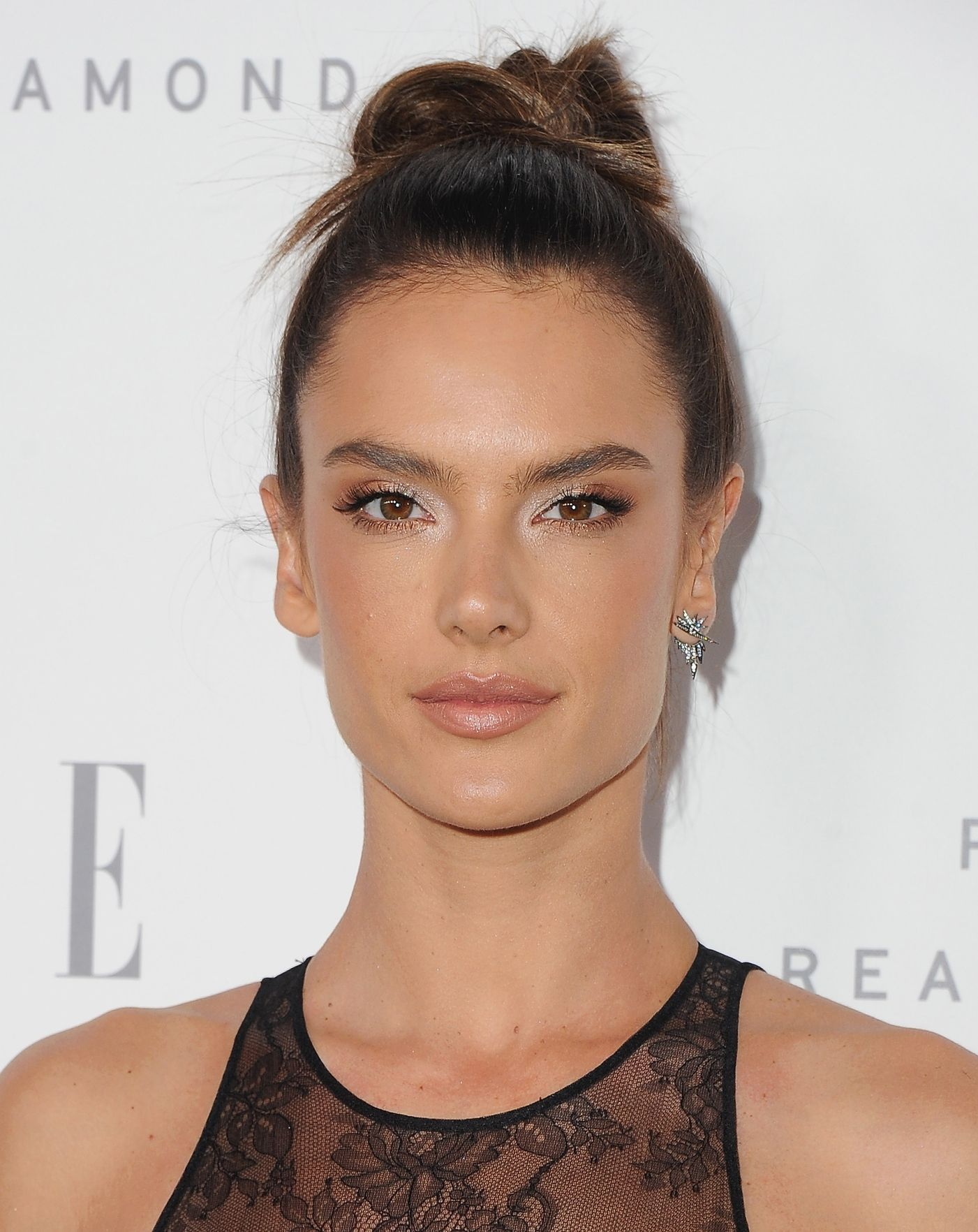 Alessandra Ambrosio Top Knot Hairstyles 2018