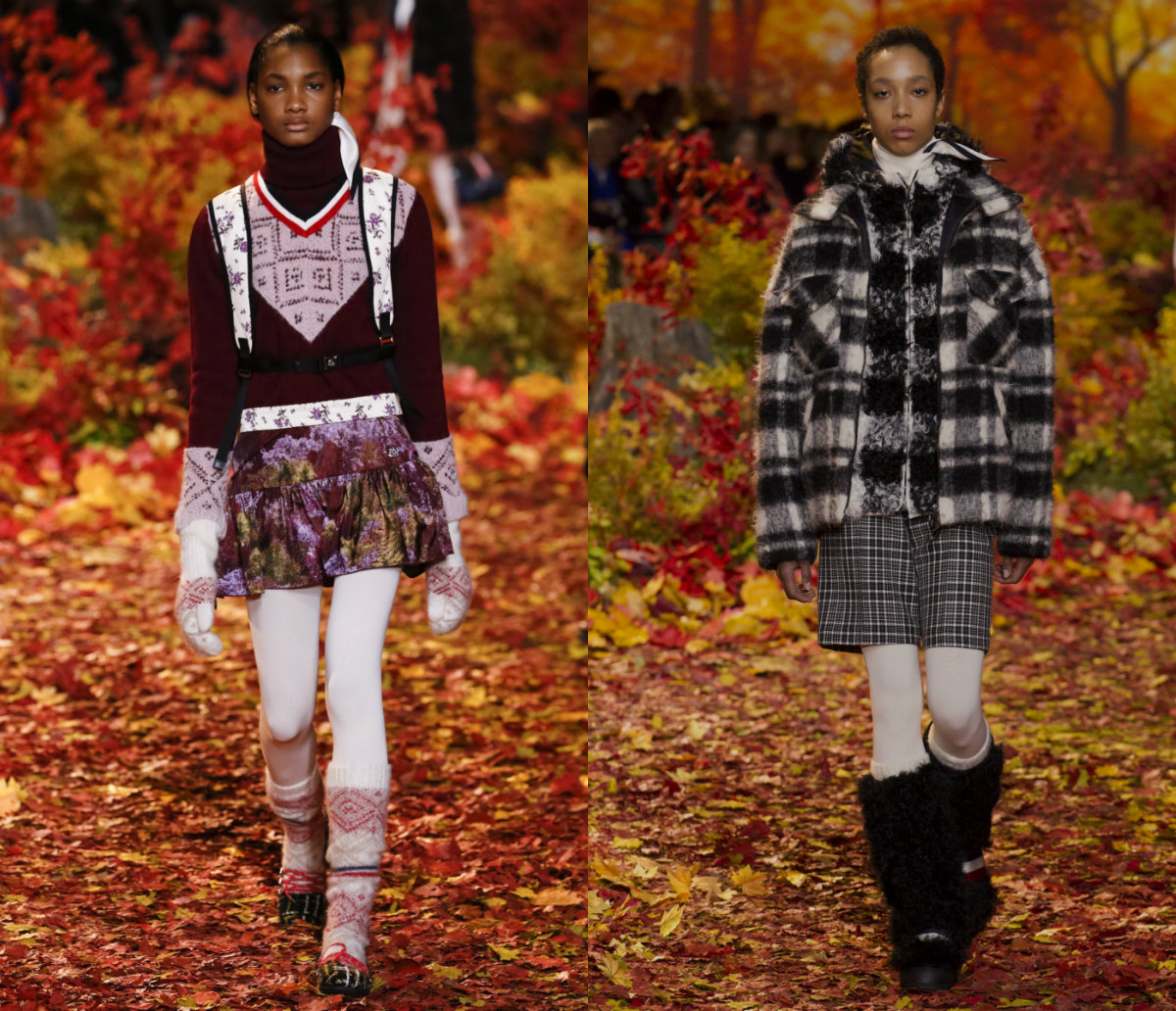 Moncler Gamme Rouge Black Women Hairstyles 2017 Autumn-Winter 2018