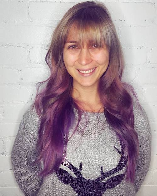 purple ombre hair color for women over 50