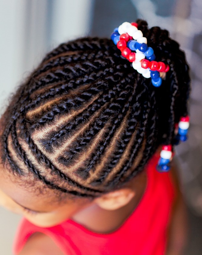 4th of July black children's hairstyles 2015