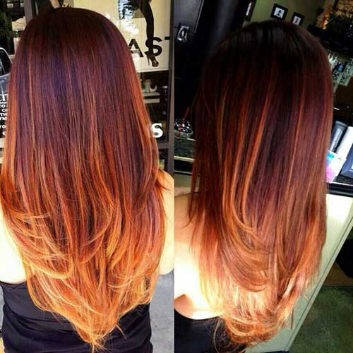 Ombre hair color styles