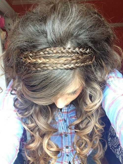 Braided curly hair for girls
