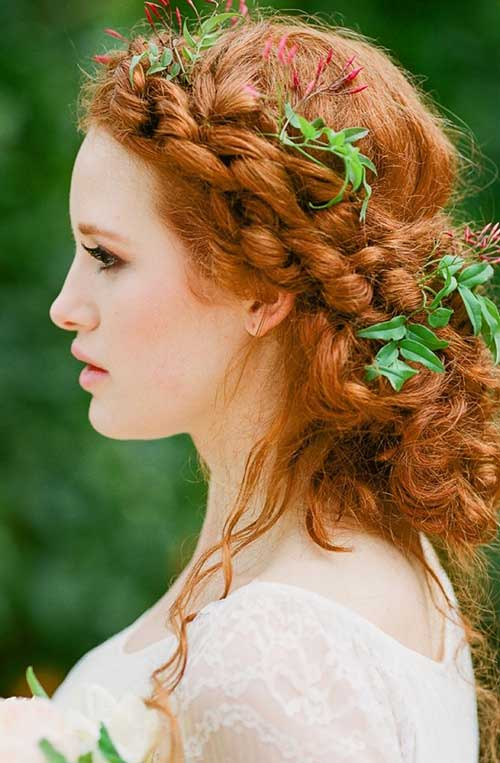 Hairstyles for curly hair with pigtails