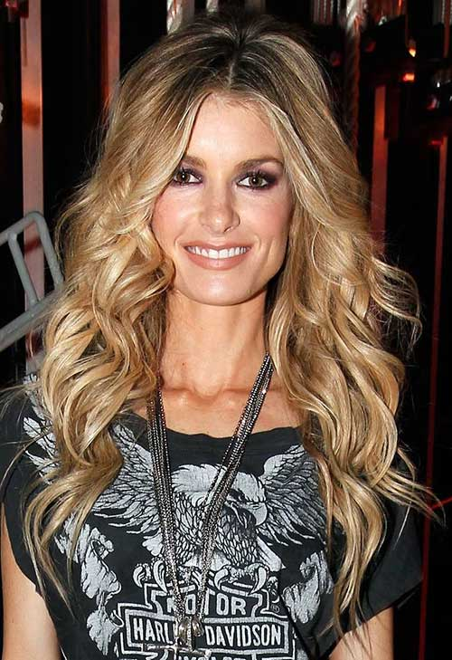 Blonde loose perm hairstyles