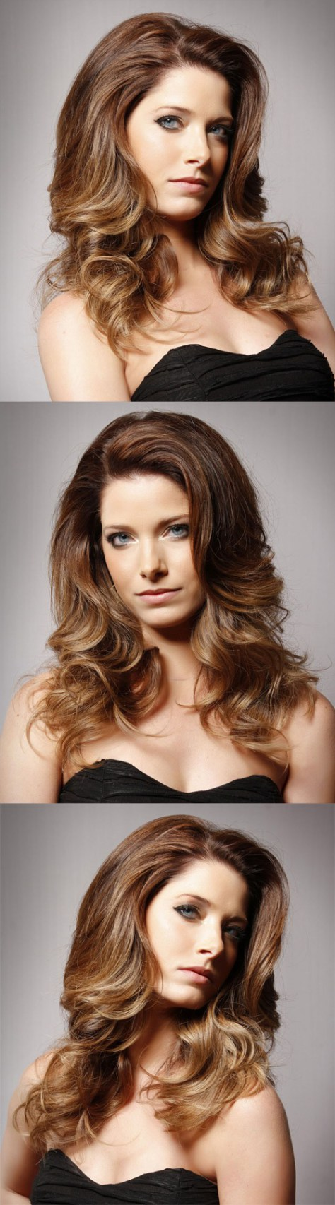 Long wavy formal hairstyle