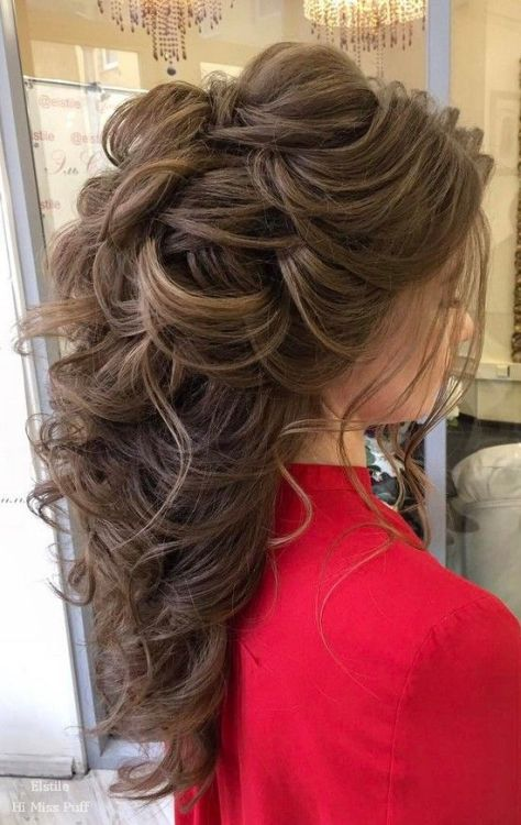 Long hairstyle for the wedding