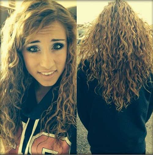 Loose Perm Brown Hairstyles