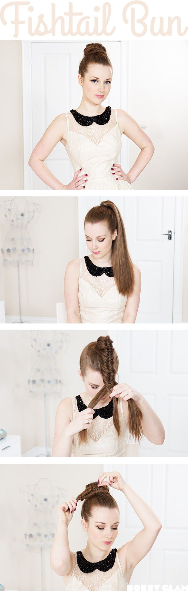 10 Fishtail Bun Instructions