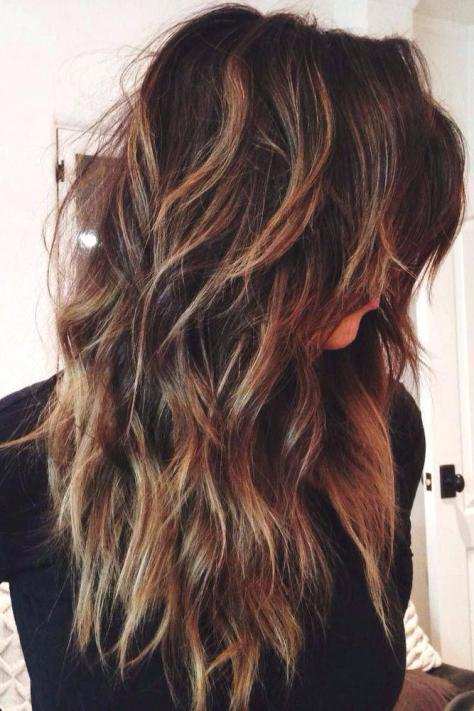 Long hairstyle with layers