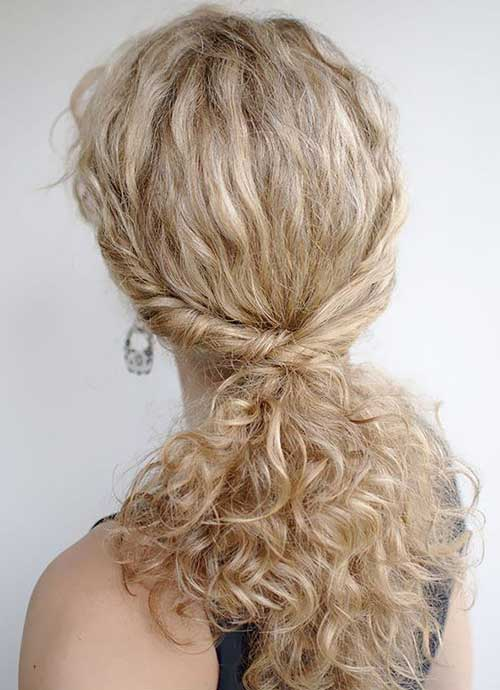 Simple curly hairstyles ideas for girls