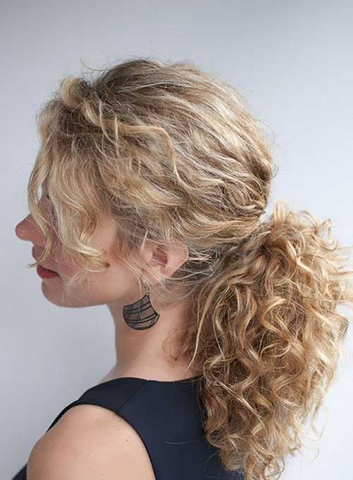 Simple curly hairstyles for girls