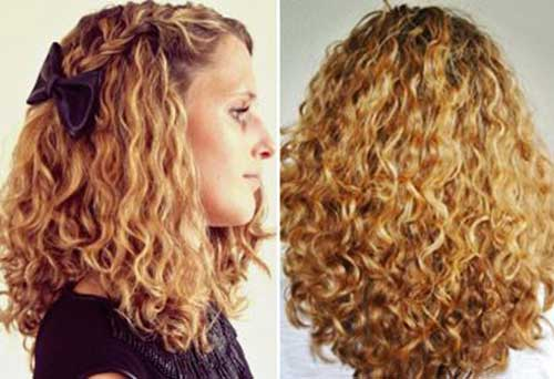 Thick blond curly hairstyles for girls