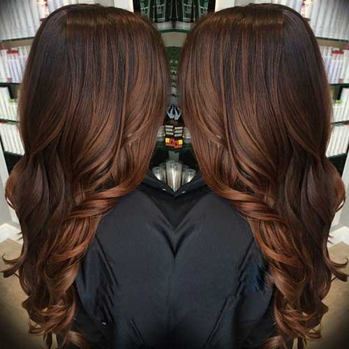 Dark Brown Balayage Brunette Hair Color
