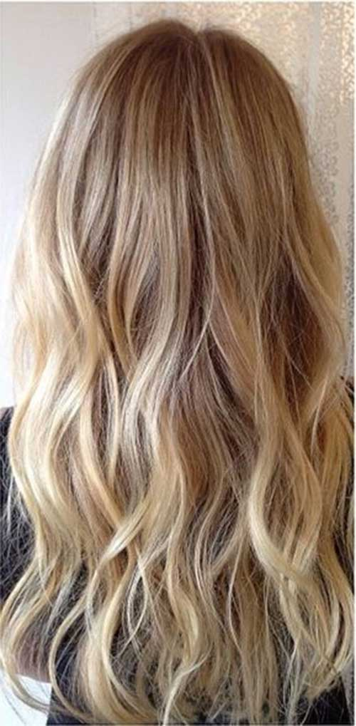 Blonde Dimensional Highlights Long Hair Trends 2017