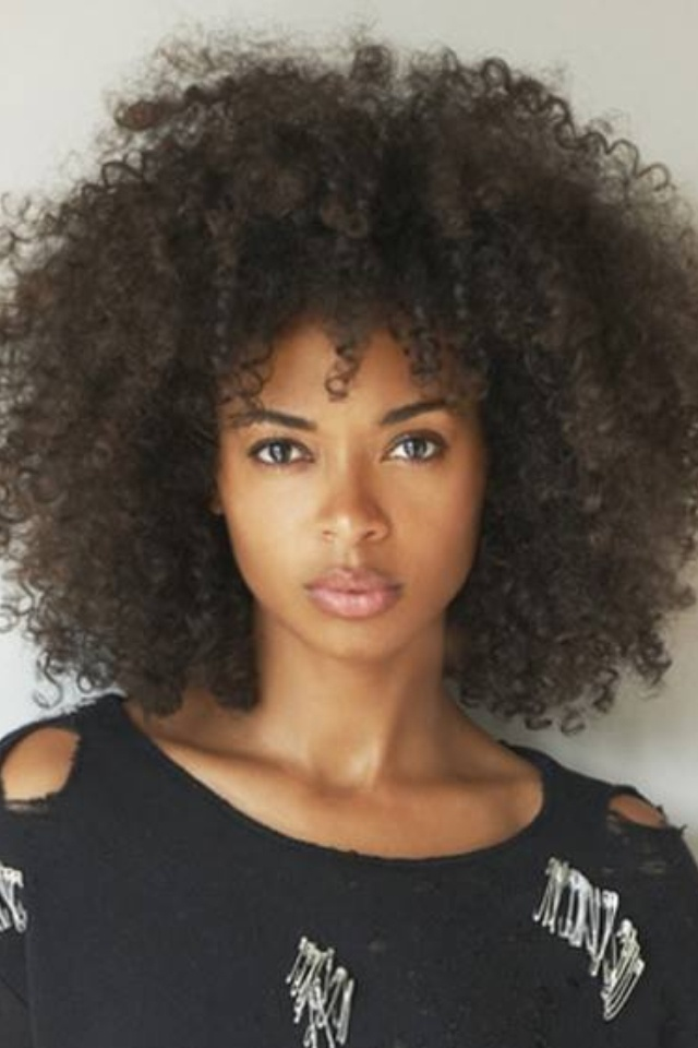 Beautiful long afro hairstyle
