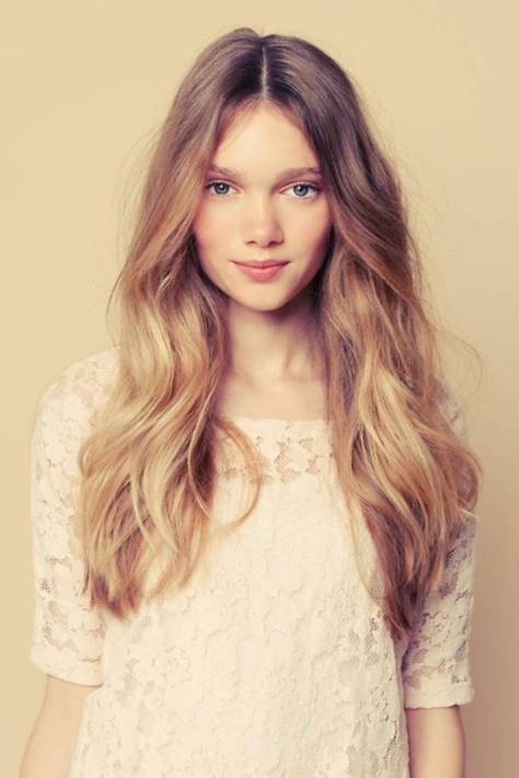 Casual long hairstyle