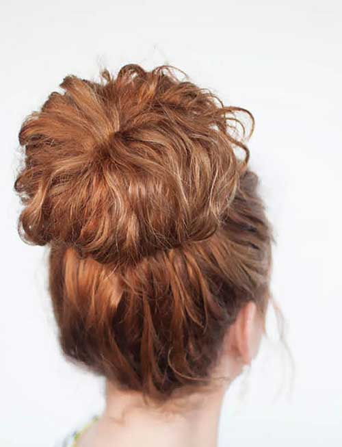 Easy Updo for curly hairstyles Girls