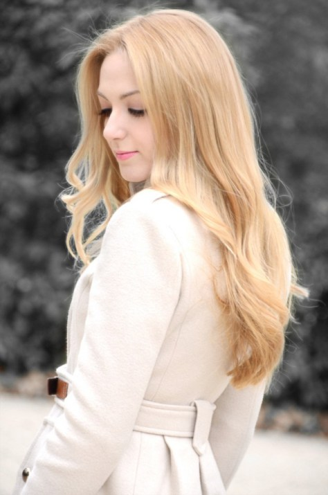 Simple long hairstyle