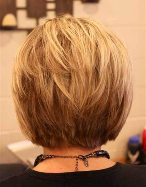 Back view of Blonde Bob