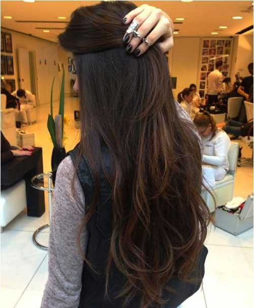 Long hair color for dark brown hair
