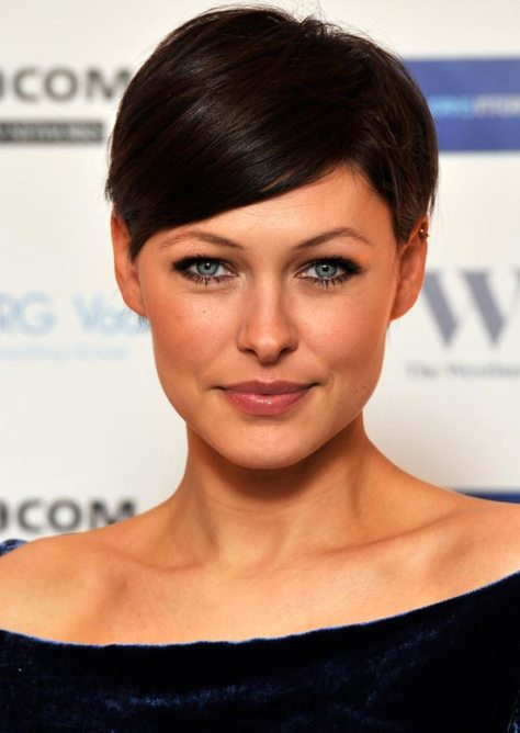 Short professional hairstyle