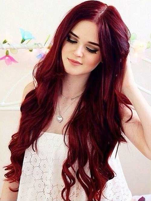 Red long hair colors