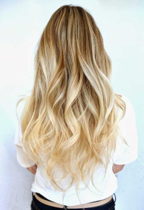 Long Blonde Ombre Hairstyles
