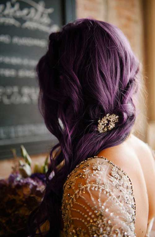Purple color plum hair ideas