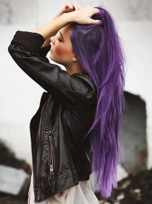 Best trendy purple hair colors